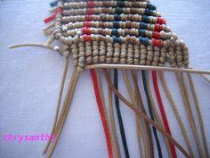Macrame Jewelry, Macrame Bracelets, Macrame Bracelet Tutorial, How To Make Necklaces, Fun Crafts, Knots, Weaving, Jewels, Pattern