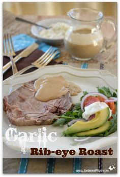 Garlic Rib-eye Roast