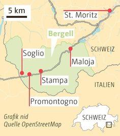 Bergell: Wenn es im magischen Tal allzu still wird - Schweiz: Standard - bernerzeitung.ch Map, Switzerland, Viajes, Location Map, Maps