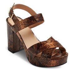 Women's Harlee Platform Heeled Sandals Mossimo Supply Co. -