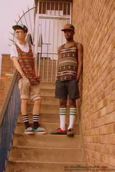 Cool kids with tube socks. my next boytoy on the left.
