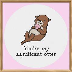 Otter Cross Stitch Pattern (Pun cross stitch pattern)