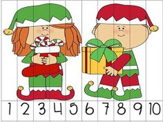 numerical puzzles for christmas Preschool Christmas, Christmas Games, Christmas Activities, Kids Christmas, Preschool Education, Kindergarten Activities, Christmas Gifts For Parents, Puzzles, Winter Crafts For Kids