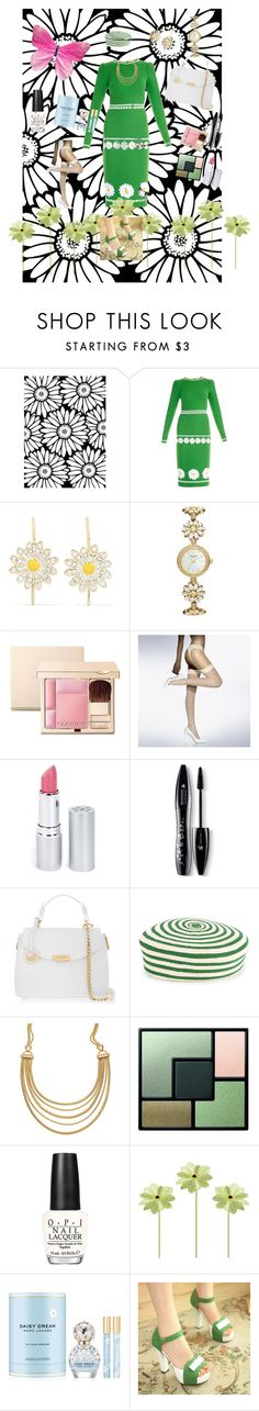 """Daisy Chain"" by wendy-collins-1 on Polyvore featuring Dolce&Gabbana, Alison Lou, Kate Spade, Clarins, Wolford, HoneyBee Gardens, Lancôme, Versace, Gucci and White House Black Market"