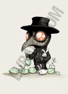 The Plague Doctor Experiments Fine Art Print | Etsy Creepy Drawings, Halloween Drawings, Creepy Art, Cartoon Drawings, Cute Drawings, Tim Burton Kunst, Tim Burton Art, Cartoon Kunst, Cartoon Art