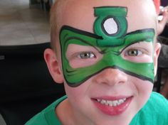 green lantern face paint - Google Search