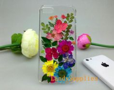 Amber natural rose real pressed flowers iphone 5s case iphone 5c iphone 5 4 4s samsung galaxy s5 case samsung s4 note 3 2 mega lg g2 g3  htc
