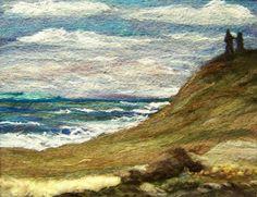 #249 Sea Love | Needlefelt wool on felt with art yarns from … | Flickr