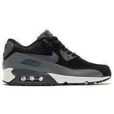 0d7f667f2c Nike Air Max 90 Leather Womens 768887-001 Black Grey Running Shoes Wmns  Size 6.5