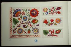 czech embroidery designs | ... Czech/Slovak Folk Embroidery Patterns ethnic peasant charted design