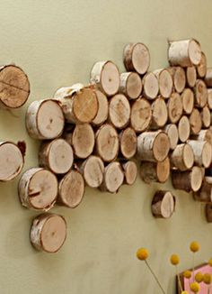 Try this with gnarly interesting wood and a dark stain