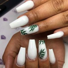 Need some ideas to spice up your white acrylic nails? We have over 35 white acrylic nail designs you're going to want for your own nails. Acrylic Nails Coffin Short, White Acrylic Nails, Best Acrylic Nails, White Coffin Nails, Acrylic Nail Art, Acrylic Summer Nails Coffin, Coffin Acrylics, Beach Nail Designs, Cute Acrylic Nail Designs