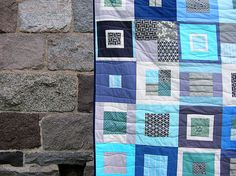 Ocean Quilt by greenleaf goods, via Flickr <--- simple block design, great quilting idea :)