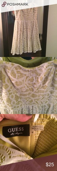 💋GUESS💋light green lace dress! Cute and fun guess dress Guess Dresses Strapless