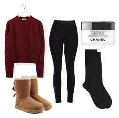 """""""Cozy day"""" by weekndxoxo ❤ liked on Polyvore featuring interior, interiors, interior design, home, home decor, interior decorating, Chloé, UGG Australia, Chanel and Barneys New York"""