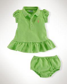 Ruffled Cotton Polo Dress - Dresses & Skirts  Baby Girl (Newborn-24M) - RalphLauren.com