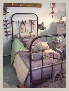 the boo and the boy: Metal beds used in kids' rooms