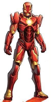 Anthony Stark (Earth-616) with Space Armor MK III from Iron Man Vol 5 6 cover