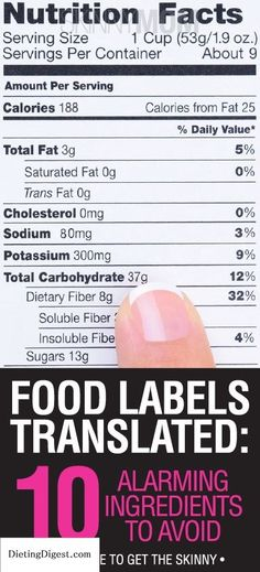Knowing how to actually read the label is crucial to a truly healthy diet // Remembered most of this from Skinny Bitch. Seriously! Read the labels! EVEN ON ORGANIC FOOD! Because technically HFCS is vegan even though it uses genetically modified ingredients! Dont put unnecessary chemicals in your body! Check out Dieting Digest