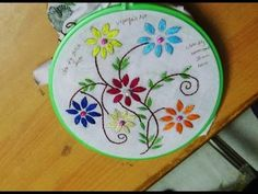 Hand Embroidery Designs # 137 - Romanian stitch design - YouTube