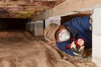 Crawlspace odors can spread to the rest of the home. Many houses are commonly built with a crawlspace between the ground and the first floor. The builders do this so that they can have easy access to ductwork. Mold In Crawl Space, Crawl Space Vapor Barrier, Crawl Spaces, Crawl Space Insulation, Get Rid Of Mold, Confined Space, Home Inspection, Selling Your House, Diy Molding