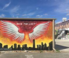 Downtown Houston graffiti mural artwork.