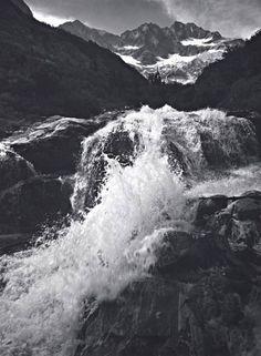 Waterfall, Northern Cascades, Washington, 1960 Photograph by Ansel Adams. © Ansel Adams Publishing Rights Trust
