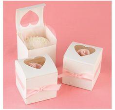 Cajita individual cupcake con corazón