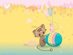 colorful Happy Easter quotes wishes