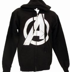 Amazon.com: Avengers Straight Logo Symbol Hoodie Sweatshirt: Clothing