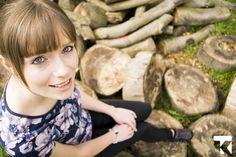 Portrait with logs