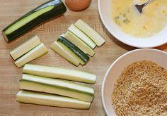 Oven Baked Zucchini & Yogurt Ranch Dip