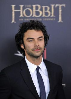 "Aidan Turner at ""The Hobbit: An Unexpected Journey"" New York Premiere // UHH! You REFUSE to wear a bowtie! Well, then, HERE! It's a purple tie, at least!"
