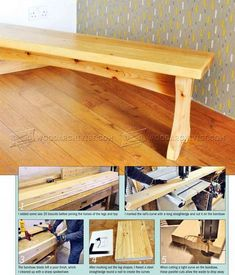 #1689 Softwood Bench Plans - Furniture Plans and Projects