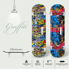 For a skateboarder, his skateboard reflects uniqueness and freedom. When you are unshackled, your creativity knows no bounds. You go VERSATILE and VIBRANT, just like A GRAFFITI. Catch the exclusive range of JASPO 'Destructor' skateboard and go vibrant. #skateboarding #skate #skateboard #skatelife #sk #skateboardingisfun #skater #skateordie #skateshop Skateboard Price, Skateboard Online, Buy Skateboard, Skateboards Uk, Skates, Skateboarding, Graffiti, Freedom, Creativity