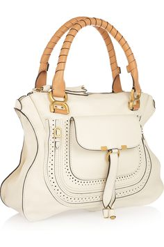 Chloé's handbags -the Marcie. Updated for the spring season in porcelain and blush leather with luxe gold hardware.