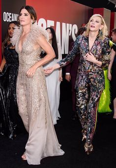 Sandra Bullock, Sandro, Gala Dresses, Formal Dresses, Ocean's Eight, Oceans 8, Cate Blanchett, My Style, Outfits