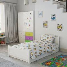 Dětské povlečení do postýlky bílé žluté modré víla Amálka kreslené postavičky Hello Kitty, Toddler Bed, Furniture, Design, Home Decor, Products, Child Bed, Decoration Home, Room Decor