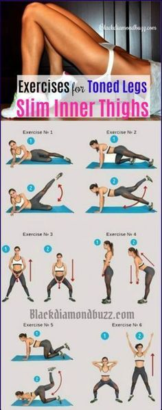 Best exercise for slim inner thighs and toned legs you can do at home to get rid of inner thigh fat and lower body fat fast. belly fat melting workout by eva. Fitness Workouts, Easy Workouts, Yoga Fitness, At Home Workouts, Physical Fitness, Fitness Games, Fitness Quotes, Fitness Nutrition, Fitness Motivation