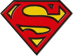 Superman Logo Applique Machine Embroidery Design Embroideres