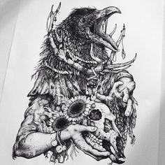 Floripa Noise 2015 @balaclavastudio Fiz uma série com 4 ilustras doentias para o festival, logo depois fui convidado para fazer parte do estúdio . Nem preciso dizer que é uma honra fodida me juntar com os descolados balacrew hahah. E DIGO MAIS, VAI ROLAR NOISE AGAIN!  #dotwork #balaclavastudio #stippling #art #inspiration #pointillism #tattoo #skull