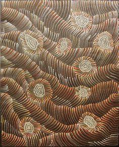 Maureen Hudson Nampijinpa ~ Sand Dunes and Waterholes, 2009