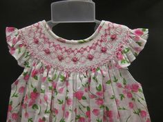 NWT Will'beth Bishop Smocked Dress 24M Girls Pink Print Birthday Toddler | eBay
