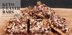 Keto 7-Layer Bars (THM:S, Low Carb, Ketogenic)