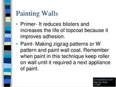 How to Painting Walls