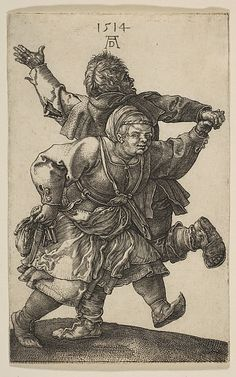 1514 - Albrecht Durer - Peasant Couple Dancing