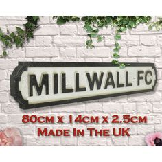 Millwall Football Club Fc Gifts Brighton & Hove Albion, Brighton And Hove, Fc Southampton, Manchester United Old Trafford, Carrow Road, Football Signs, Millwall, Goodison Park