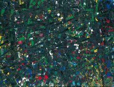 Jean Paul Riopelle,  Sans titre, 1953, huile sur toile, 89 x 116 cm