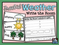 Enjoy this FREEBIE from Miss Hellen's Hippos!  Follow me to receive an update whenever I post a freebie!! :)Write the Room activities are loads of fun for kids, and perfect for your literacy/science centers!  This product will keep your kiddos busy with 2 different write the room experiences on Weather (with  corresponding recording sheets).