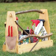 This handy toolbox holds all your small garden tools and is light and strong. It's an easy project that you can make in just a few hours.
